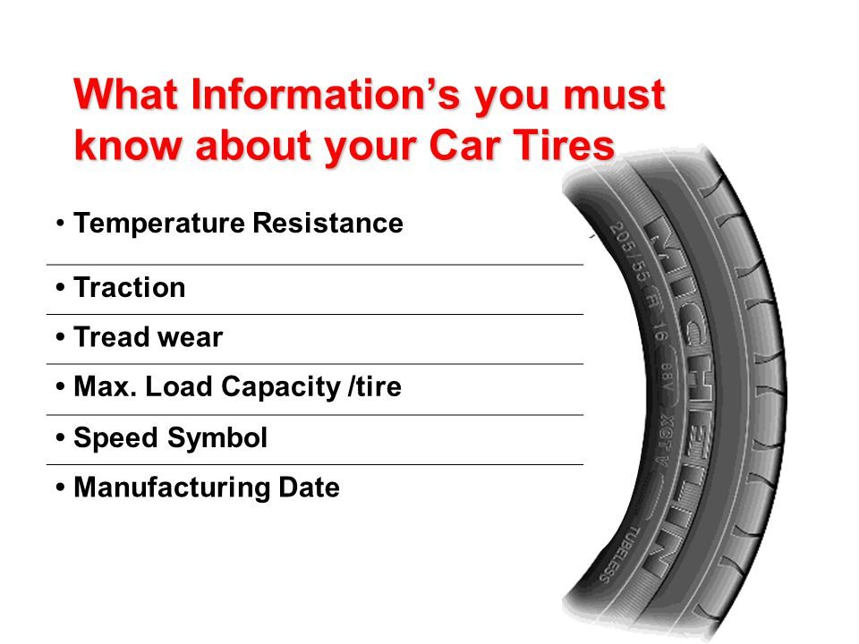 Temperature Resistance Traction Tread wear Max.