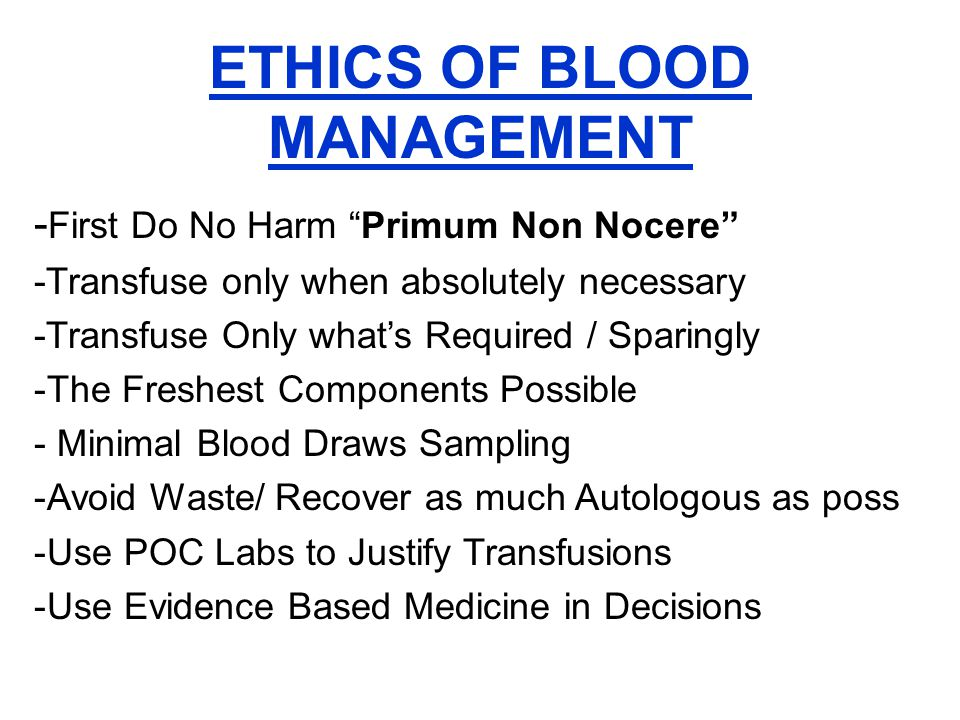 The Primary Doctors Office Baseline lab work (preferably 6 wks early) Micro-sampling (Peds Tubes) Iron therapy 50% of the Population are Low Epo therapy 2-3 weeks to raise Hct 2-3% Help patient to select best Hospital Help patient to select best Cardiologist Help guide patient to select best Surgeon