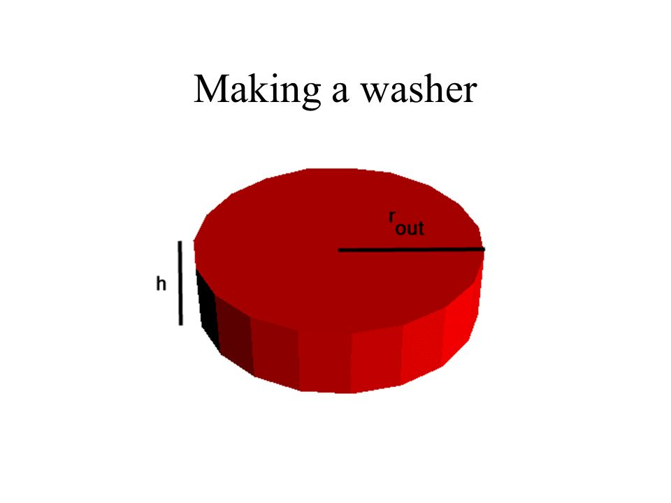Making a washer