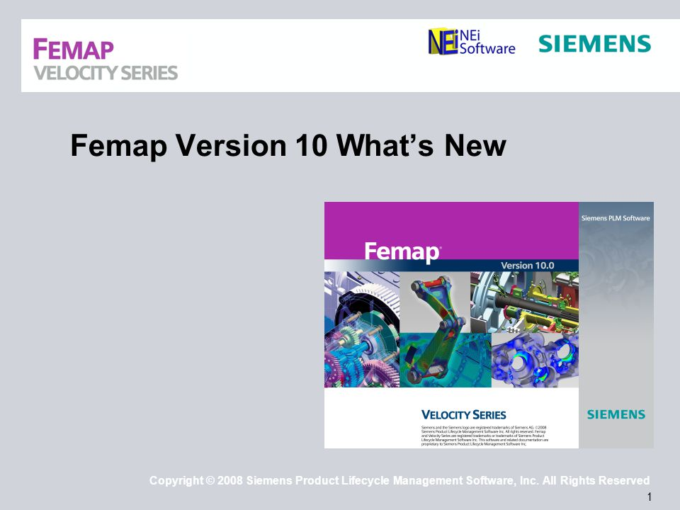 32 Copyright © 2008 Siemens Product Lifecycle Management Software, Inc.