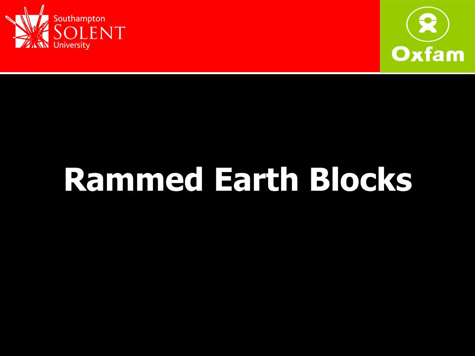 1.Produce a block that is cheaper and easier to produce than concrete blocks or fired bricks 2.A block that is environmentally sound and durable 3.Use of minimal stabilisation (lime or cement) Objectives
