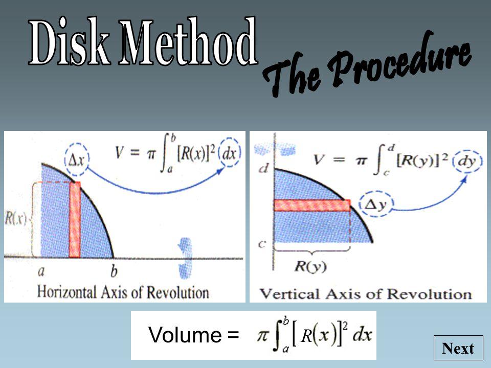 Volume = R Next