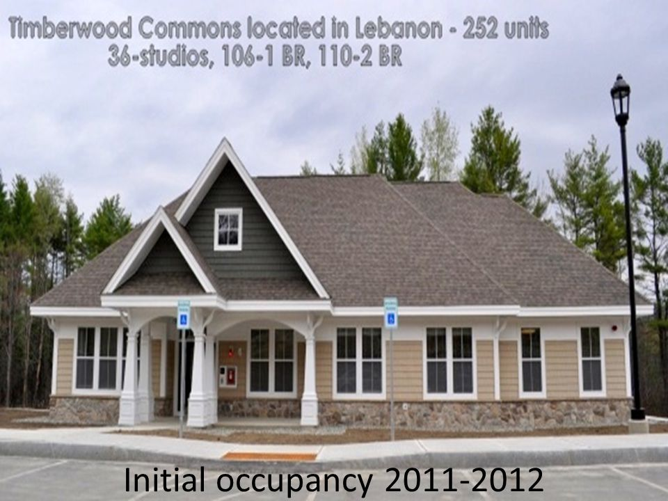 Initial occupancy 2011-2012