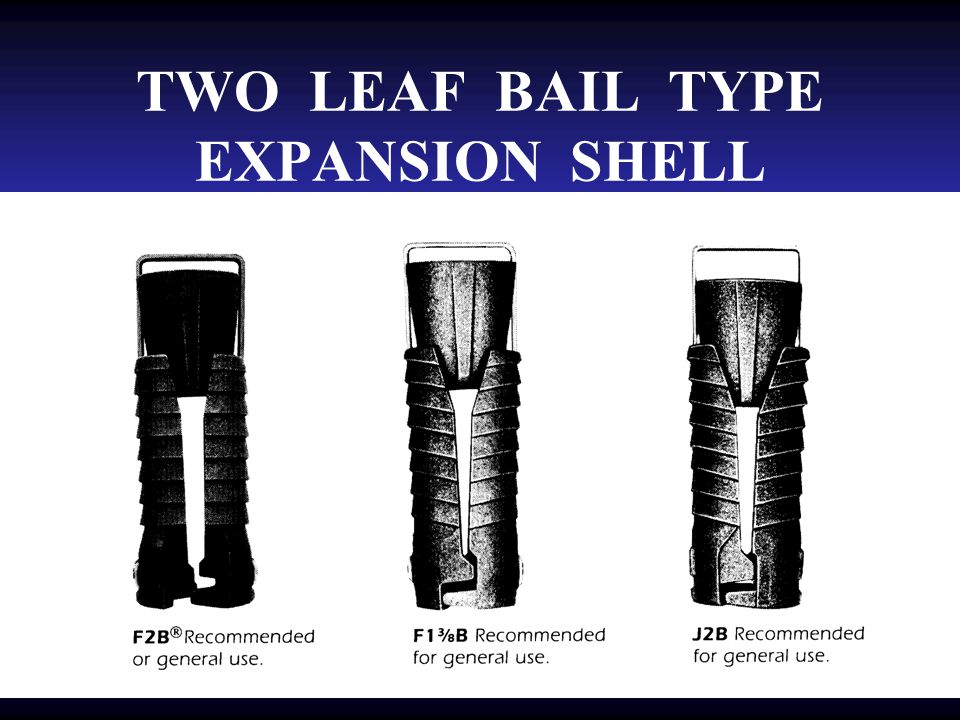 THREE PRONG EXPANSION SHELL