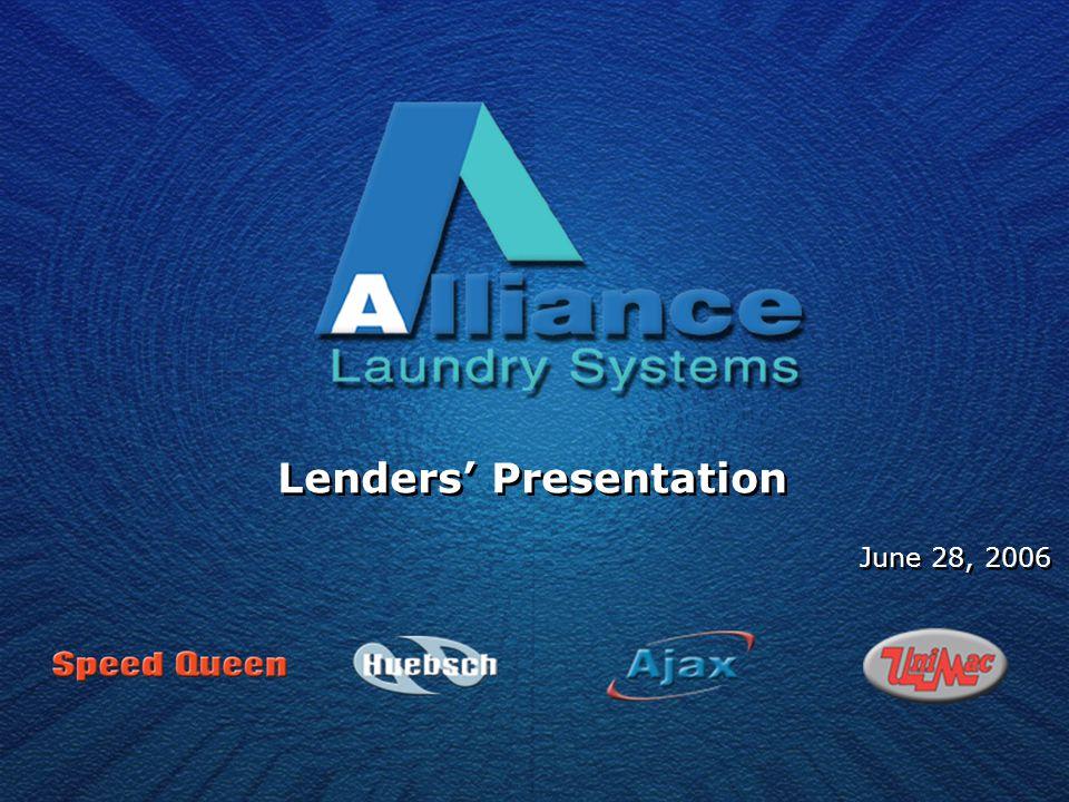 Lenders' Presentation June 28, 2006