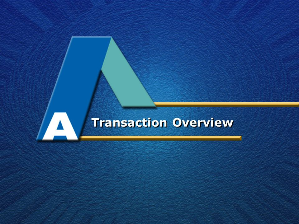 Transaction Overview