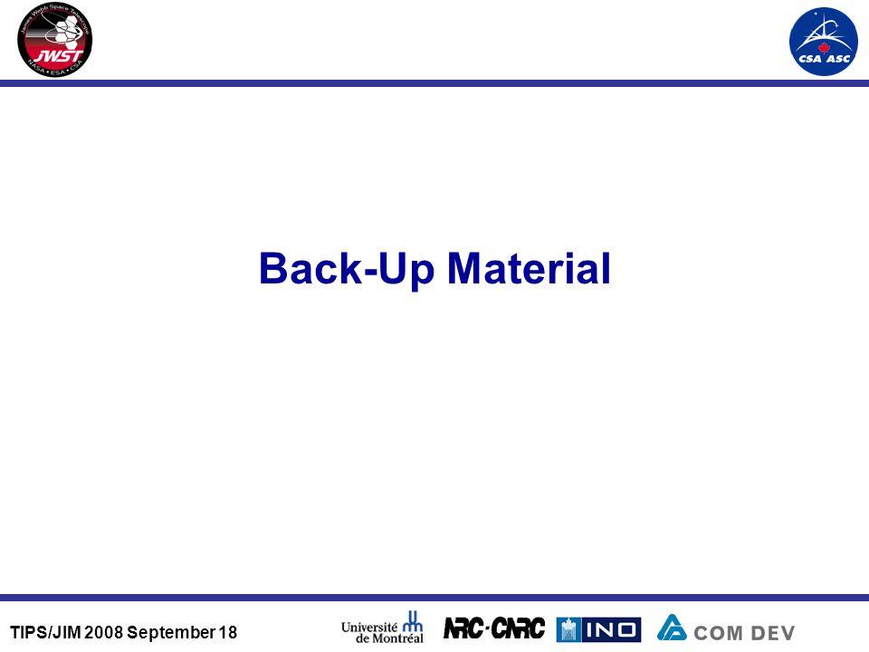 TIPS/JIM 2008 September 18 Back-Up Material