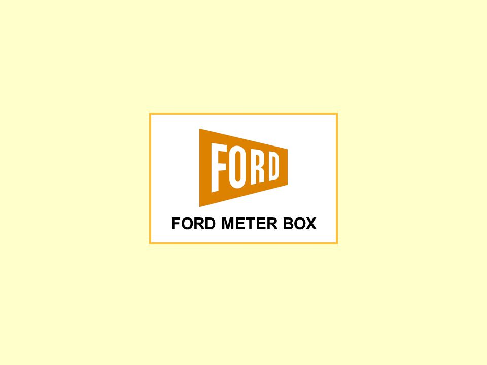 FORD METER BOX