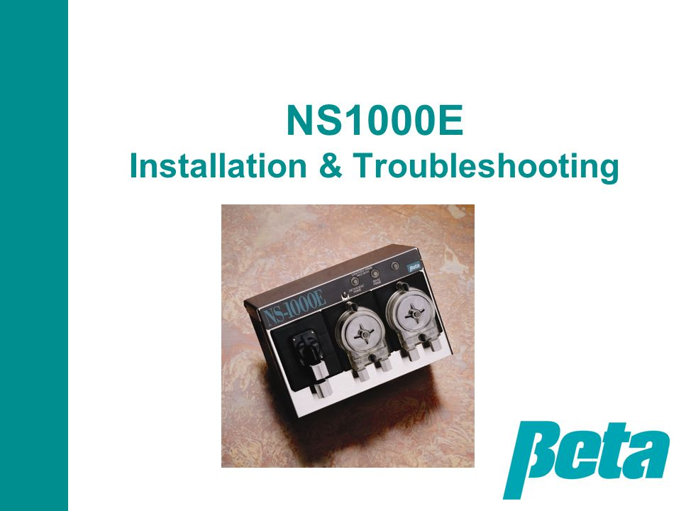 NS1000E Installation & Troubleshooting