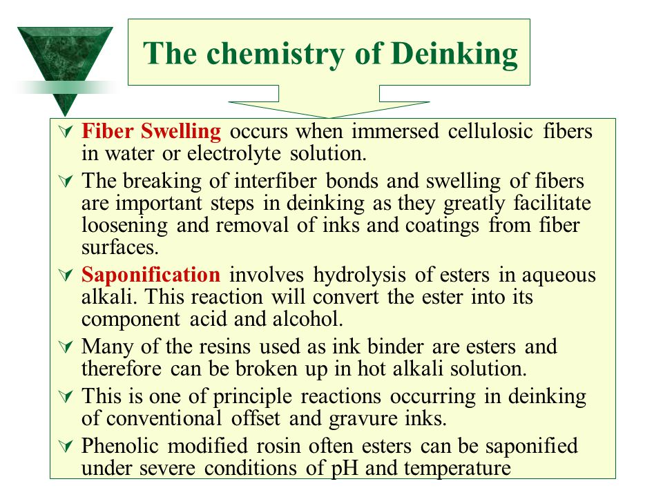 Fiber Swelling occurs when immersed cellulosic fibers in water or electrolyte solution.  The breaking of interfiber bonds and swelling of fibers ar