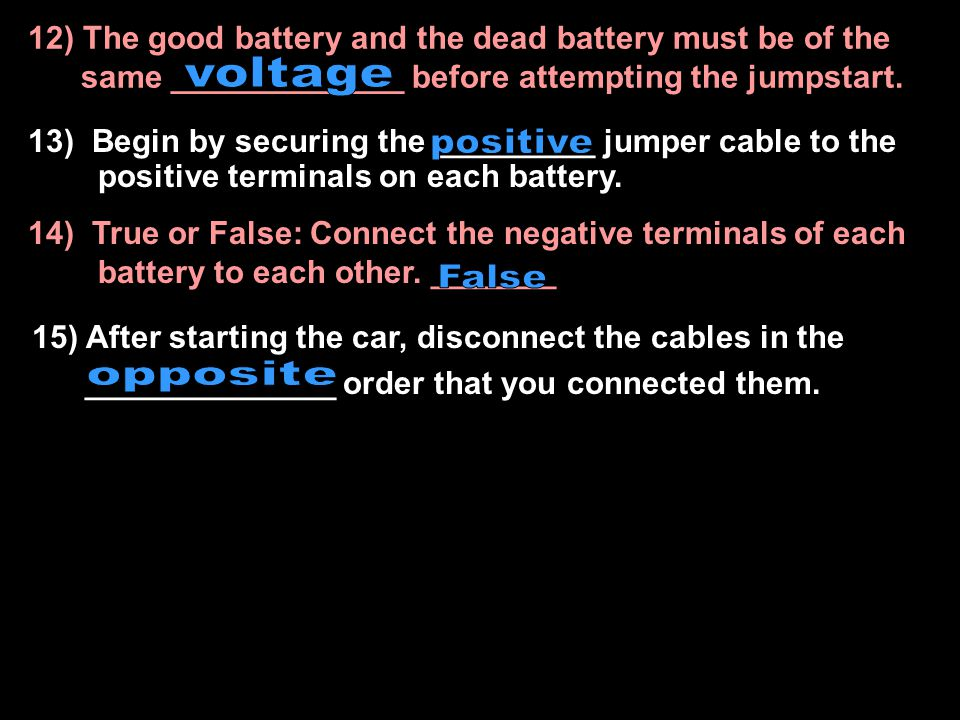 7) Correcting an electrical malfunction such as lights not working, may be easily corrected by changing a _____ 9) Since cars are the largest cause of