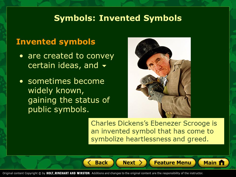 Symbols: Invented Symbols Invented symbols are created to convey certain ideas, and sometimes become widely known, gaining the status of public symbol