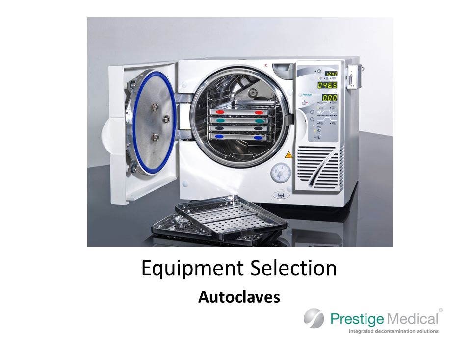 Autoclaves Equipment Selection