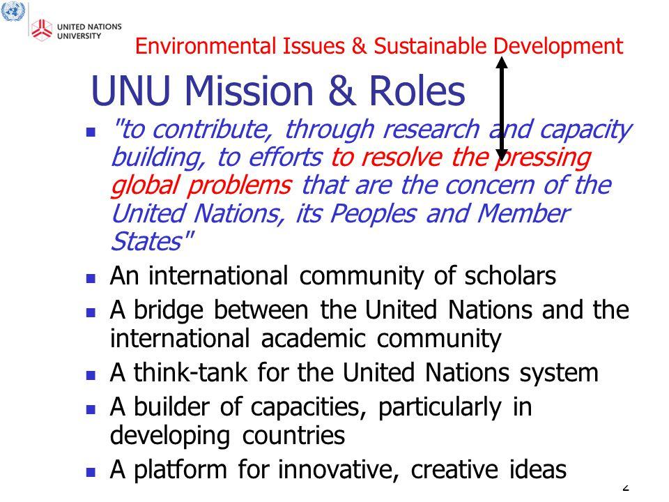 2 UNU Mission & Roles