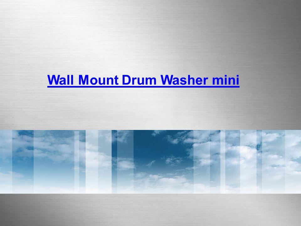 ② Utility room 3kg MINI DRUM WASHER – INSTALLATION