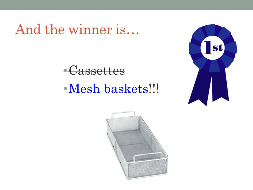 And the winner is… Cassettes Mesh baskets!!!
