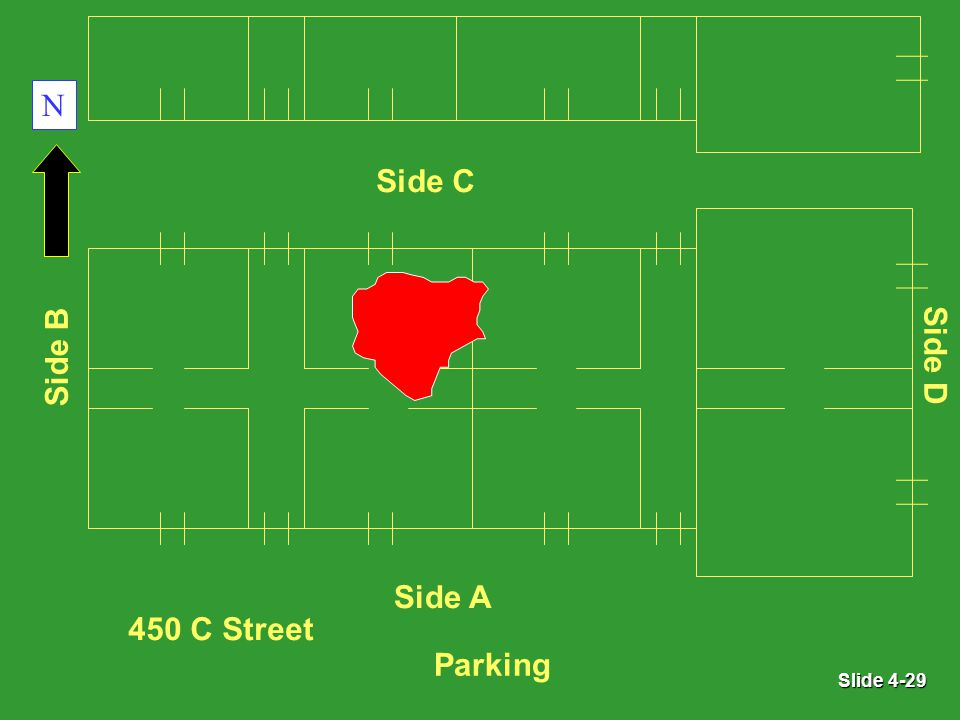 Slide 4-29 Parking Side A 450 C Street Side B Side D Side C N