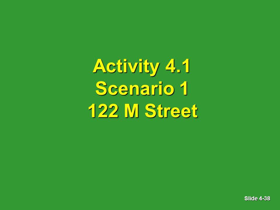 Slide 4-38 Activity 4.1 Scenario 1 122 M Street