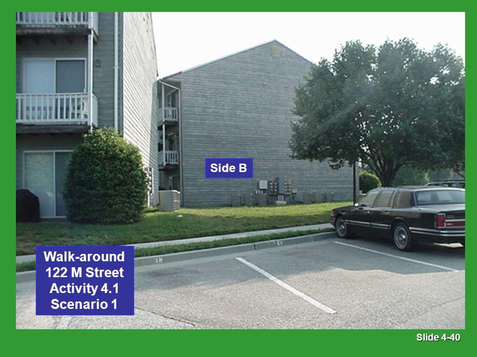 Slide 4-40 Side B Walk-around 122 M Street Activity 4.1 Scenario 1