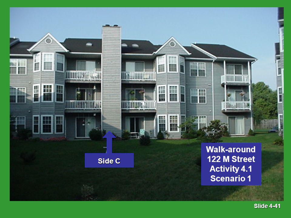 Slide 4-41 Side C Walk-around 122 M Street Activity 4.1 Scenario 1