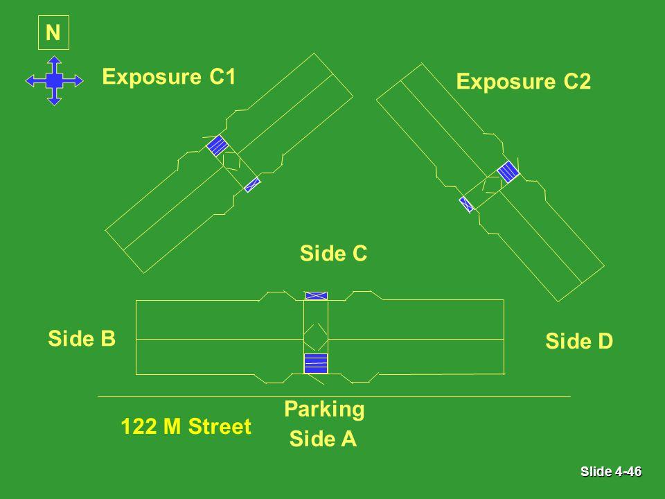 Slide 4-46 N Exposure C1 Exposure C2 Parking Side A Side B Side C Side D 122 M Street