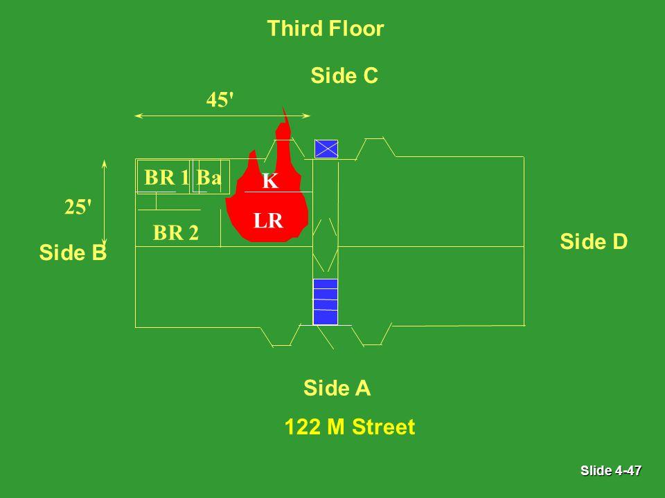 Slide 4-47 LR BR 1 BR 2 Ba K 45 25 Side A Third Floor Side B Side C Side D 122 M Street