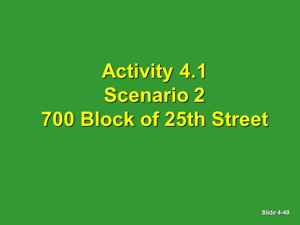 Slide 4-48 Activity 4.1 Scenario 2 700 Block of 25th Street