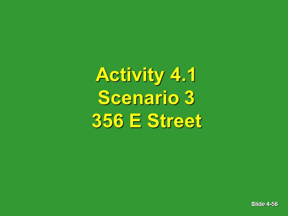 Slide 4-56 Activity 4.1 Scenario 3 356 E Street