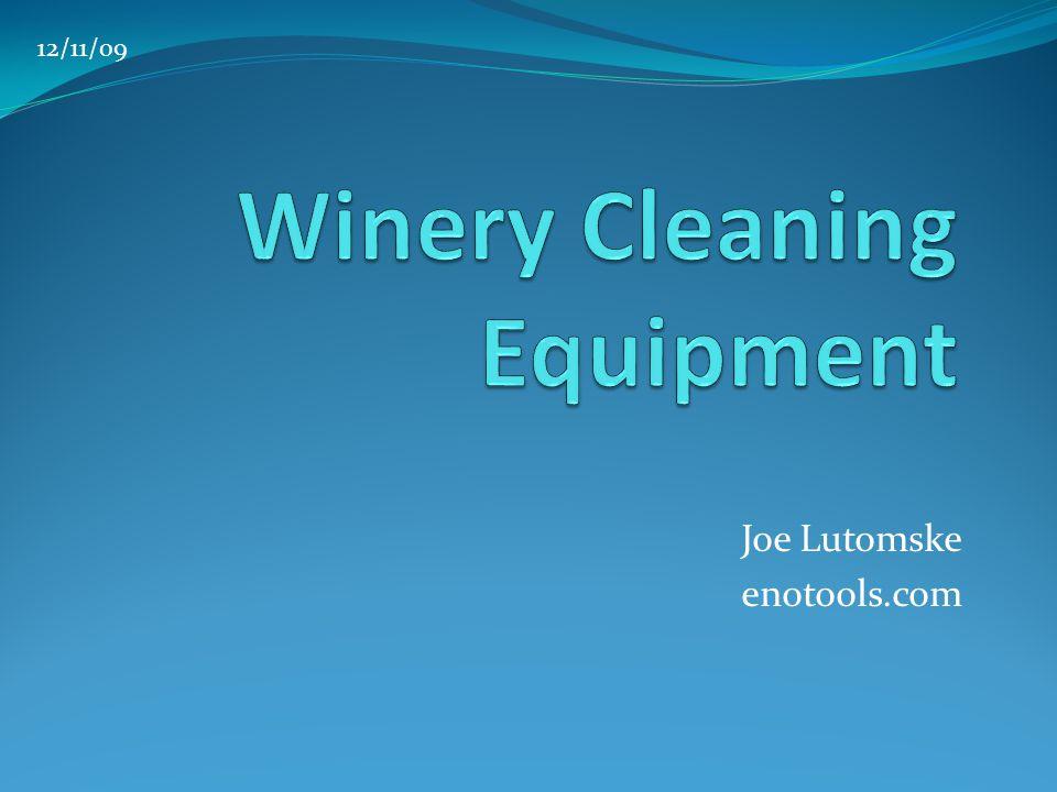 Joe Lutomske enotools.com 12/11/09