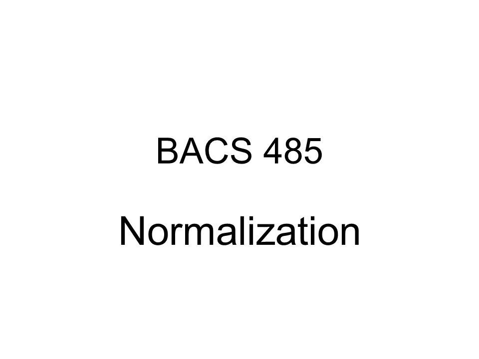 BACS 485 Normalization