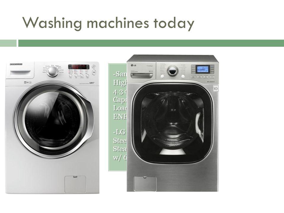 Washing machines today -Samsung White High Efficiency 4.3 cu.