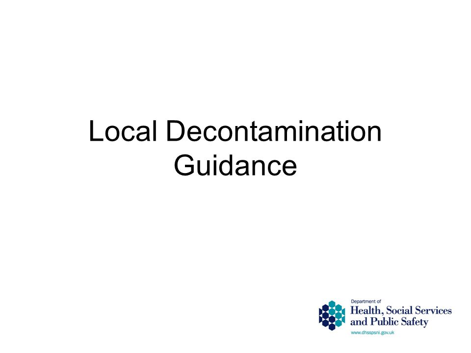 Local Decontamination Guidance