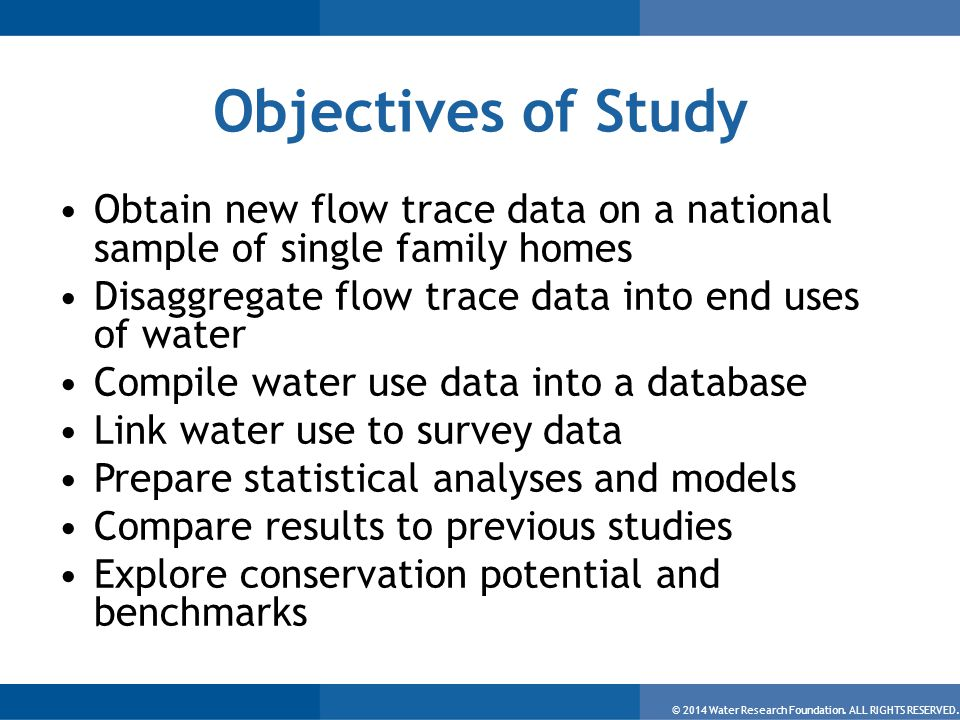 © 2014 Water Research Foundation. ALL RIGHTS RESERVED.