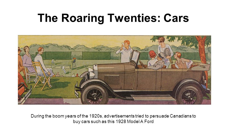 The Roaring Twenties: Cars By 1924, downtown Toronto was full of cars