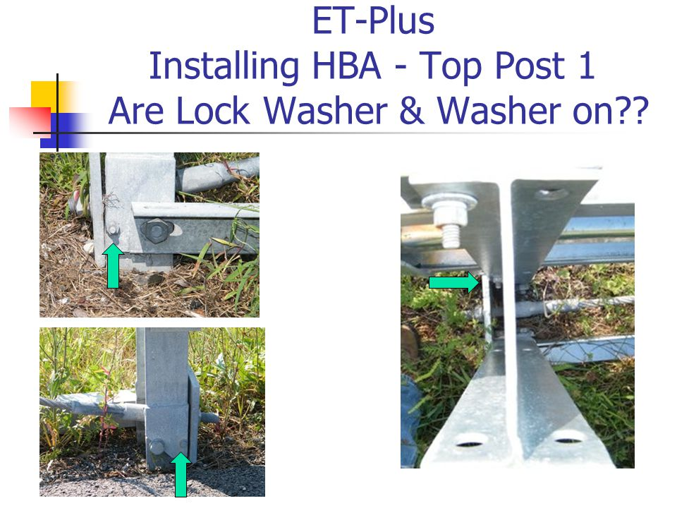 ET-Plus Installing HBA - Top Post 1 Are Lock Washer & Washer on