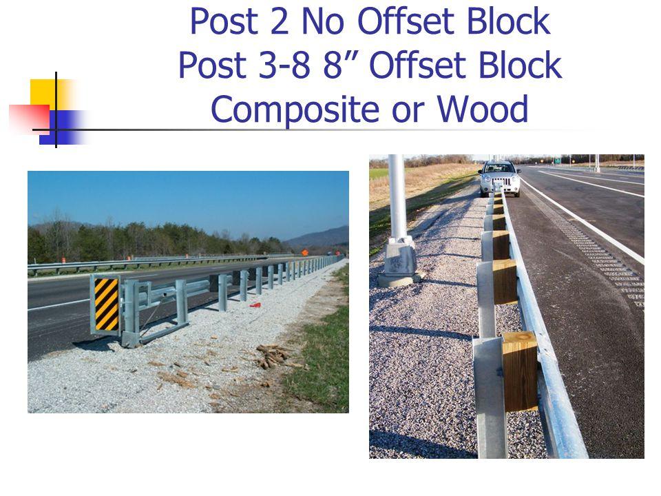 "Post 2 No Offset Block Post 3-8 8"" Offset Block Composite or Wood"