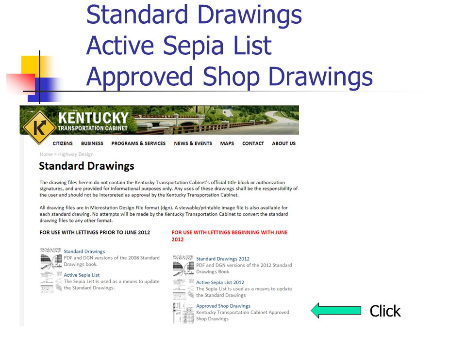 Standard Drawings Active Sepia List Approved Shop Drawings Click