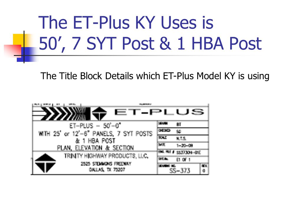 ET-Plus Parts List You can learn a lot just looking at the Parts List and the Drawing