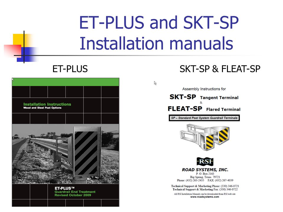 ET-PLUS and SKT-SP Installation manuals ET-PLUSSKT-SP & FLEAT-SP
