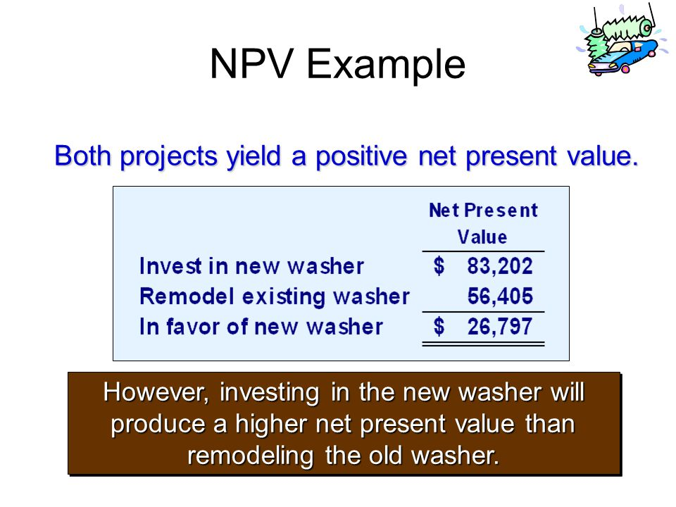 Both projects yield a positive net present value.
