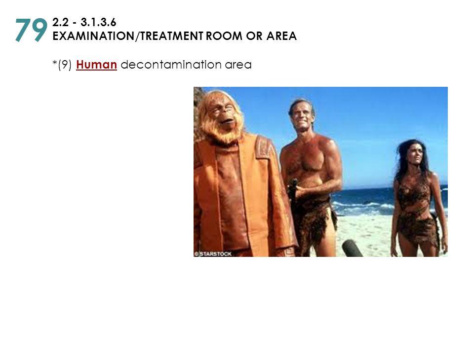 2.2 - 3.1.3.6 EXAMINATION/TREATMENT ROOM OR AREA *(9) Human decontamination area 79