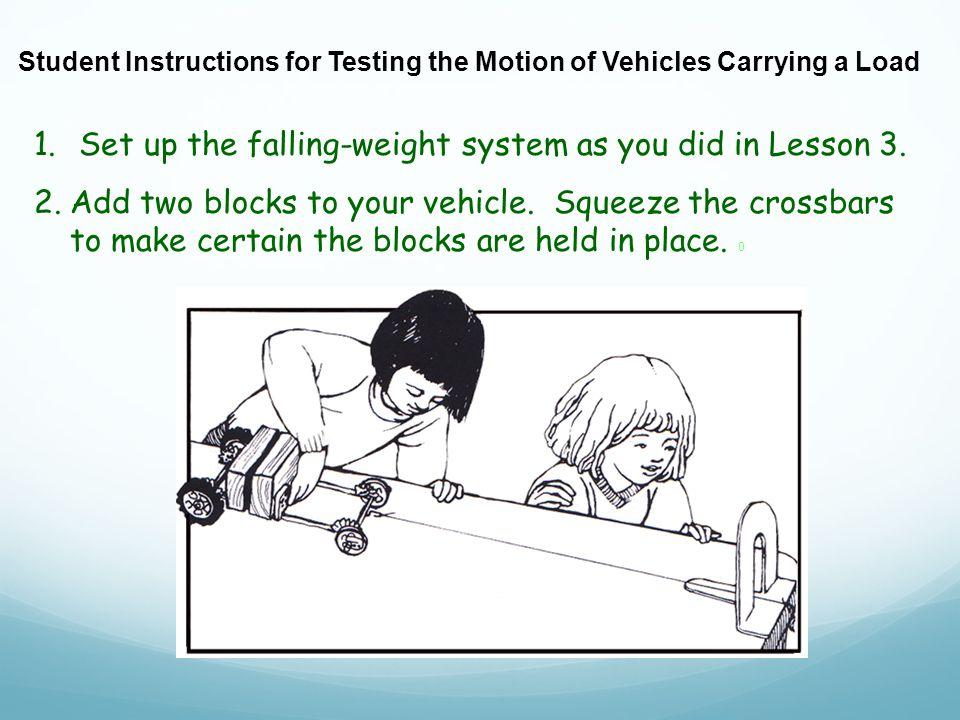 1. Set up the falling-weight system as you did in Lesson 3.