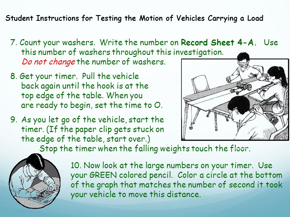 7. Count your washers. Write the number on Record Sheet 4-A.