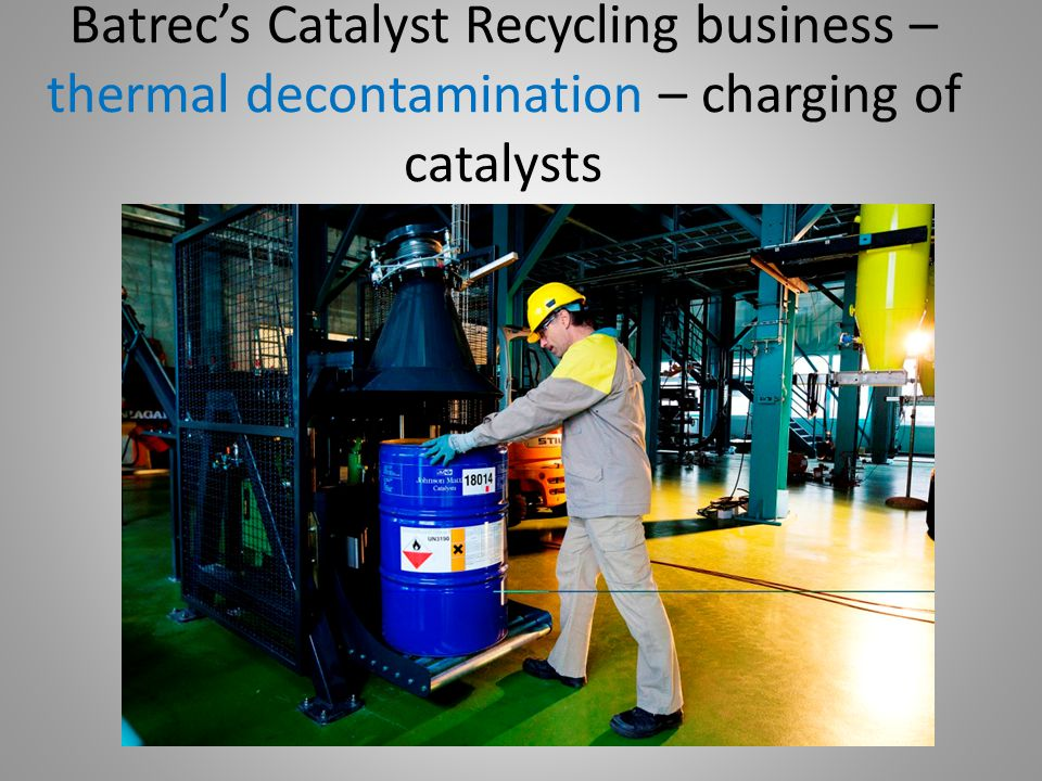Batrec's Catalyst Recycling business – thermal decontamination – the furnace