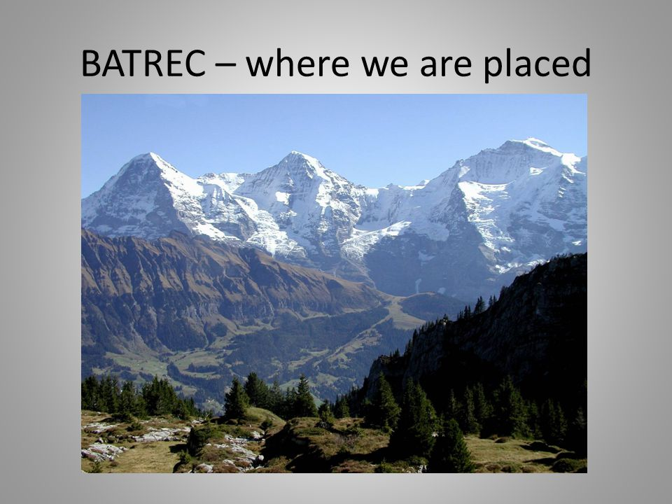 Introduction of BATREC – business areas Battery RecyclingHg recycling Reactivation of activated carbonDecontamination of Hg-guards