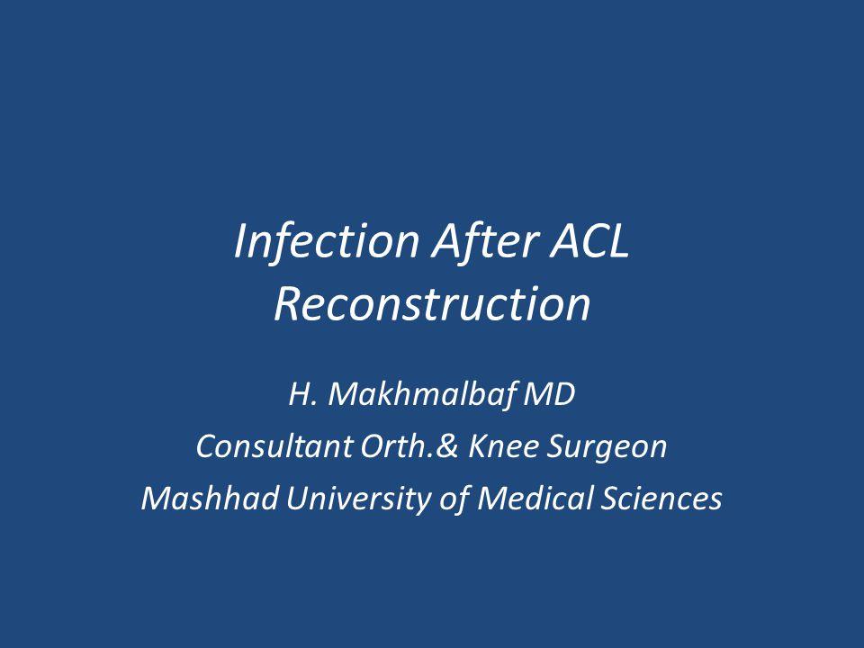 Aim of study: Chance of graft contamination Association between contamination & infec.