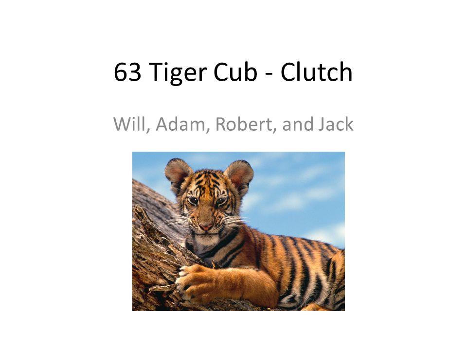 63 Tiger Cub - Clutch Will, Adam, Robert, and Jack