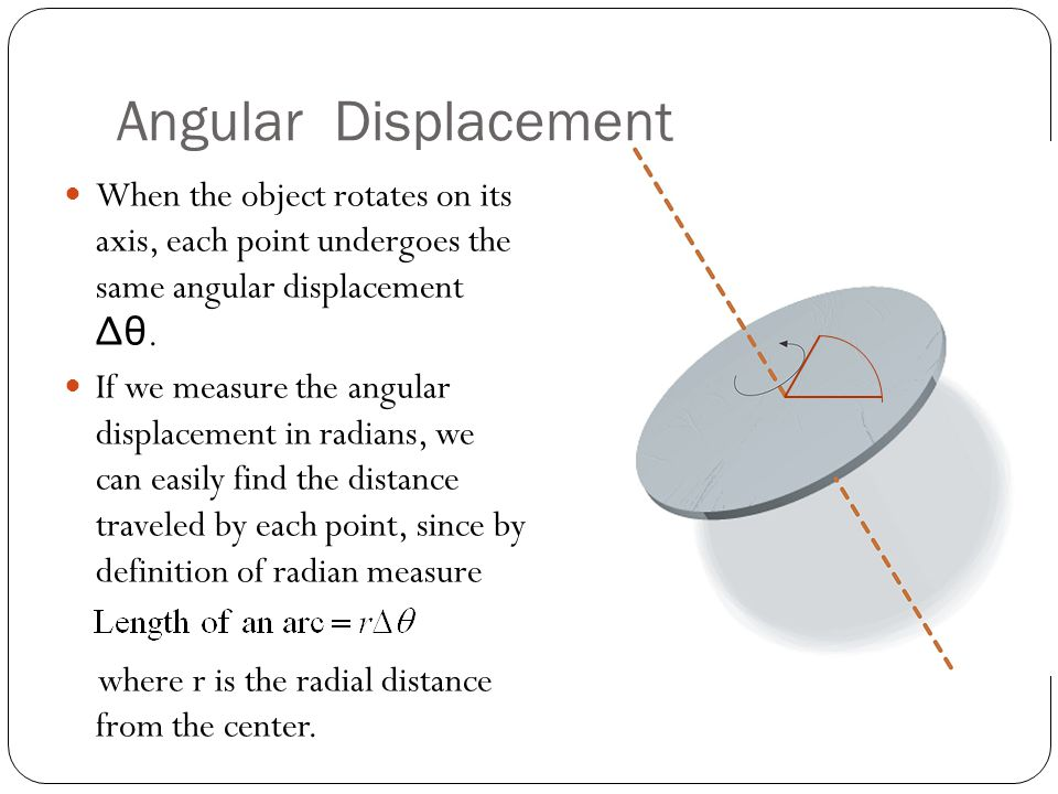 Angular Displacement Example Two people ride on a carousel.