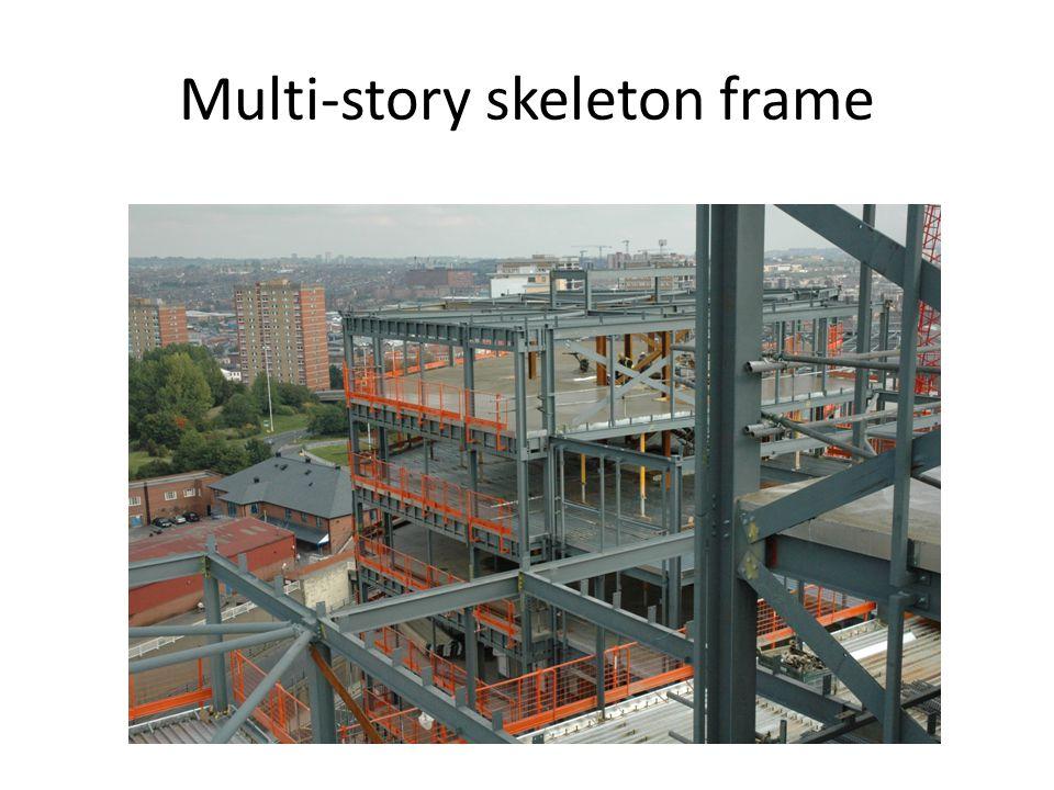 Multi-story skeleton frame