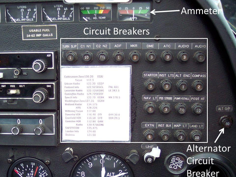 Circuit Breakers Ammeter Alternator Circuit Breaker